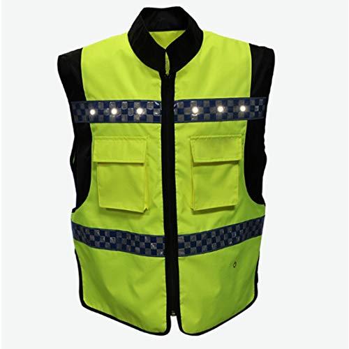 Sicurezza Vest Abbigliamento da lavoro Uniforme Alta visibilità riflettente maglia di sicurezza con LED Light Strip for Outdoor Sports Night Podismo Ciclismo Jogging Walking Lavori traffico Vest Corre