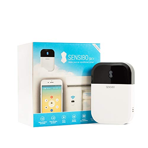 Sensibo Sky Smart Air Conditioner Controller | WiFi Thermometer Monitoring Provides Smart AC Control | Compatible with Amazon Alexa, Google Home, iOS and Android | Control Temperature from Anywhere