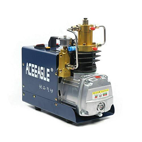 Compresor de aire de alta presión para coche, 220 V, 300 bar, compresión secundaria, 4500 psi, pistola de aire de alta presión, bomba sumergible, con separación de aceite y agua (versión autom