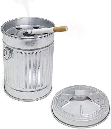 Cenicero Basura En forma de cubo de basura Con tapa 13 cm