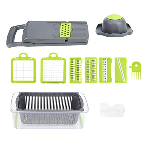 Multi-Function Kitchen Tool ABS Plastic Shell Tools Manual Slicer with 7 interchangeable Design for Cooking Food