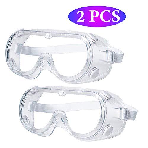 [2個入]防護メガネ 防護ゴーグル 密閉 目完全隔離 曇り止め 防曇 予防 安全 防塵 花粉症対策 防塵ゴーグル 花粉症 飛沫カ ット 眼鏡着用可