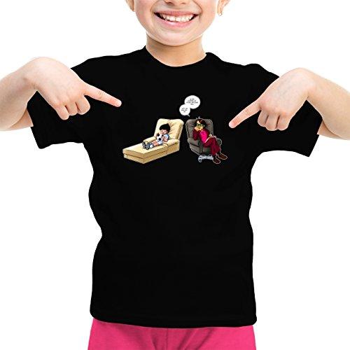 T-Shirt Enfant Fille Noir Olive et Tom - Captain Tsubasa parodique Olivier Atone : Son ami.!? (Parodie Olive et Tom - Captain Tsubasa)