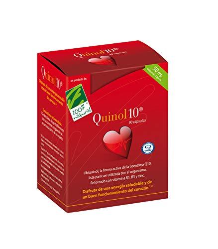 100% Natural Quinol 10 Ubiquinol Complemento Alimenticio, 50 mg - 90 Cápsulas