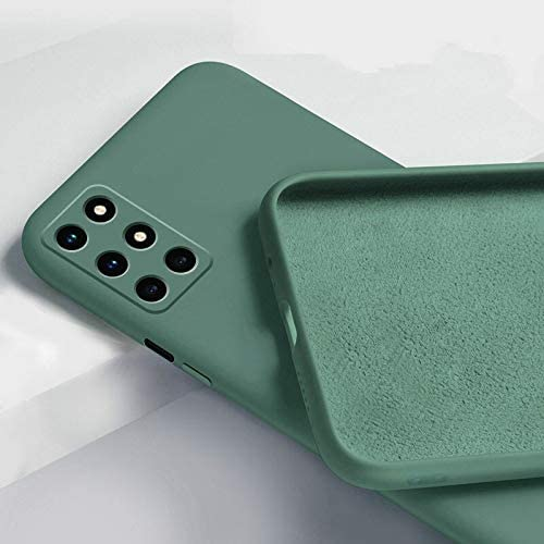 Mobistyle Soft Silicone Slim Matte Liquid Silicone TPU Shockproof Slim Back Cover Case for oneplus 8t Dark Green