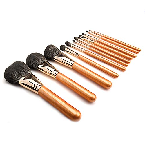 11Pcs maquillage brosse poudre brosse blush brosse à paupières brosse à lèvres brosse à sourcils brosse
