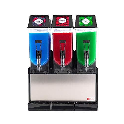 Find Bargain Grindmaster-Cecilware Frosty 3 Countertop Frozen Granita Dispenser with (3) 3.2 Gallon ...