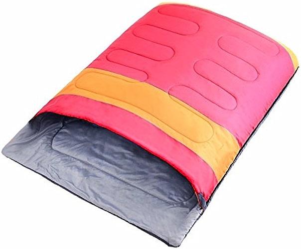 ZHUDJ double les amoureux de coton Sac de couchage, Printemps et d'hiver épaissir Sac de couchage, camping, Sac de couchage pour adultes, Bleu assorti Orange, Rouge, Orange
