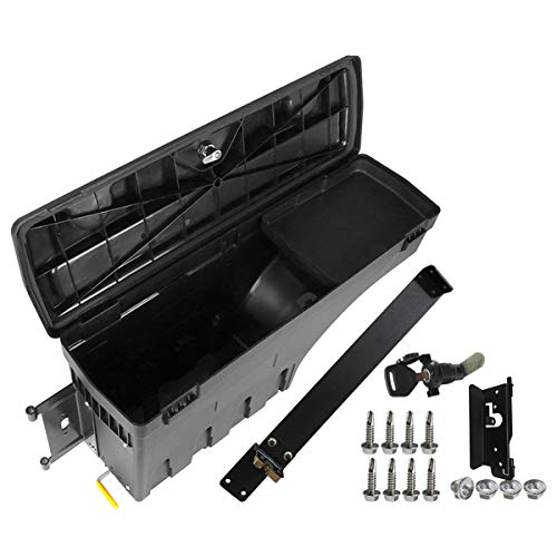 YHTAUTO Driver Side Truck Bed Storage Box Lockable Tool Case for Dodge Ram 1500 2500 3500 2002-2018