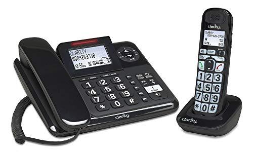 Clarity 53727 DECT 6.0 E814CC Amplified 40dB Cord/Cordless Combo Unit Phone, Black (53727.1)