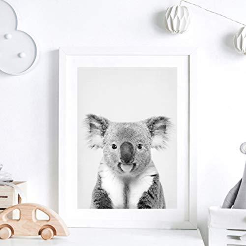 Danjiao Koala Print En Blanco Y Negro Pintura Sobre Lienzo Fotografía De La Vida Salvaje Australian Animal Zoo Poster Nursery Wall Art Decor Sala De Estar Decor 60x90cm