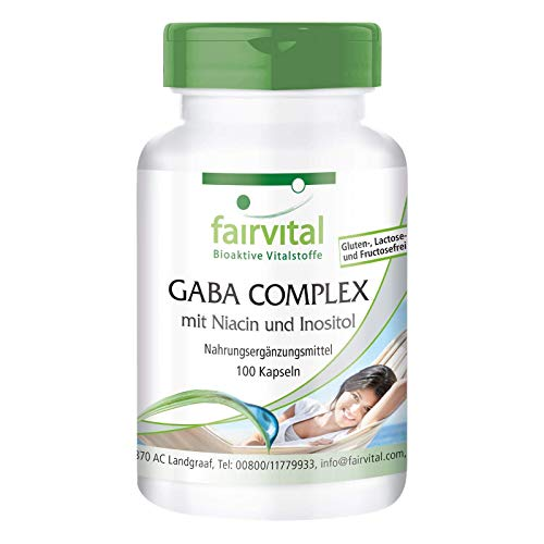 GABA COMPLEX - HOCHDOSIERT - VEGAN - 100 Kapseln - mit Niacin und Inositol
