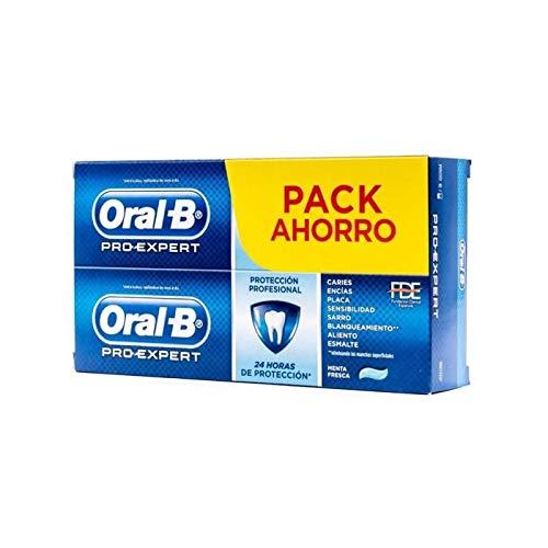 Oral-B Duplo Pro-Expert Protección Profesional Pasta Dentífrica con Fluor Menta, 2X 100Mililitros