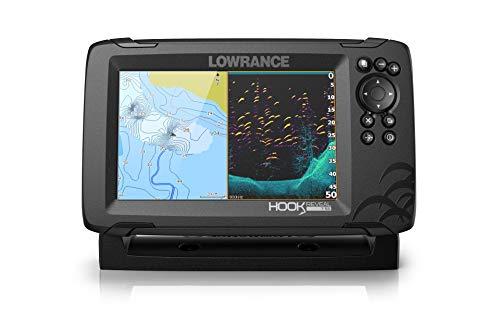 Lowrance Hook Reveal 7 SplitShot - 7-inch Fish Finder with SplitShot Transducer, C-MAP Contour+ Chart Card
