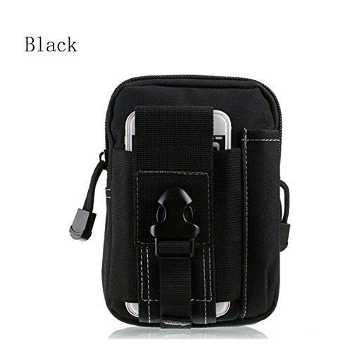 Preisvergleich Produktbild AOCK Mehrzweck-Werkzeugtasche aus Poly mit Camouflage-Muster,  1000D Nylon,  für Camping und Wandern,  Schwarz,  S
