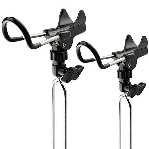 Shackcom Pesca Porta Canna Acciaio Inossidabile Supporto Canne da Pesca 2 Pezzi Canne da Pesca in Terra Supporto Fishing Rod Holder Stainless Steel
