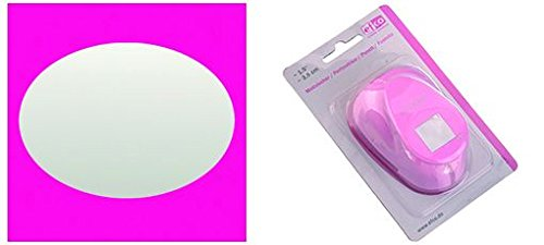 efco Stanzer XXL, Oval Motivstanzer, Kern: Metall, pink, 6,3 x 4,6 cm