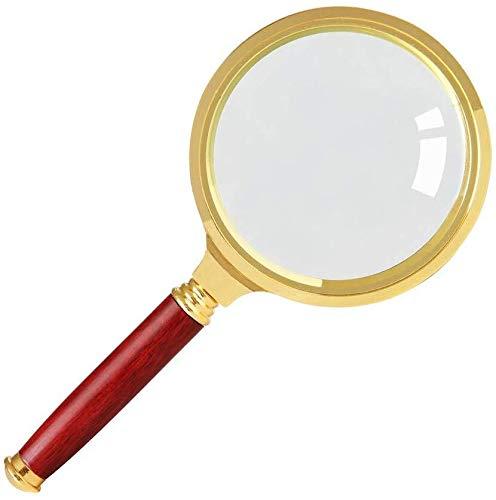 Lupe mit Haltelupe aus Metall, optische Handlupe 2,5, 4,5 mal für Kinder, Forschung, Studenten, Lupe zum Lesen von älteren Menschen