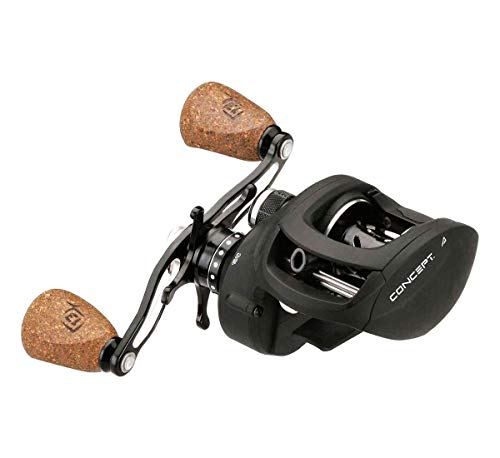 13 Fishing Concept A 8.1:1 Right Hand Freshwater/Saltwater Baitcasting Fishing Reel, Black