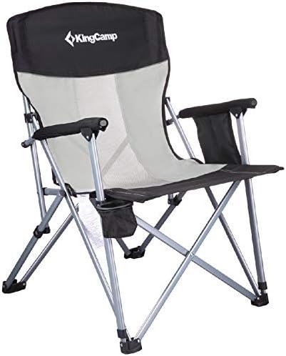 KingCamp Camping Chair Hard Arm Folding Camp...