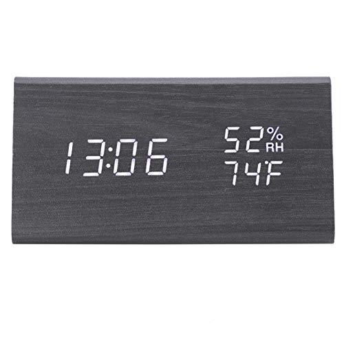 SALUTUYA Despertador Digital pequeño de Brillo Ajustable para Dormitorio para decoración de Dormitorio en casa