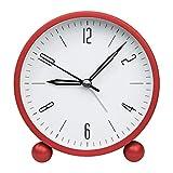 ZOJI - Reloj despertador con luz nocturna, con función simple para dormitorio, oficina, color rojo