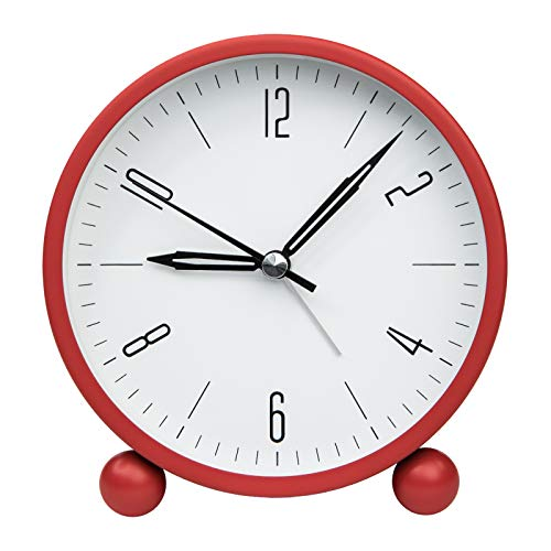 ZOJI - Sveglia da comodino con luce notturna, funzione semplice per camera da letto, ufficio (rosso)