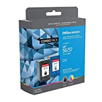 Office DepotリサイクルインクカートリッジHP HP Deskjet 5650ブラックカラーインクカートリッジ2パックブラック、3色、2- Pack )