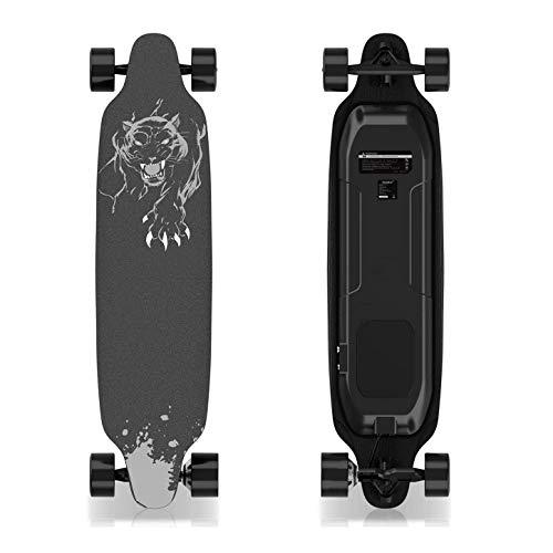 GeekMe Monopatín Eléctrico con Control Remoto, Skateboard de 4 Ruedas con Batería...