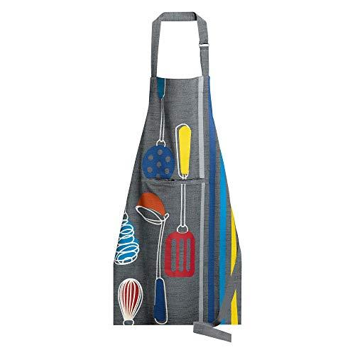 Winkler - Tablier de cuisine à poche Chama – 80×85 cm – Protection 100% coton - Blouse adulte lavable – Sangle ajustable