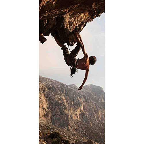 LLHBDAWanderer Auf Klettern Bild Wandbilder Wandaufkleber Tür Aufkleber Tapete Aufkleber Dekoration,77x200cm