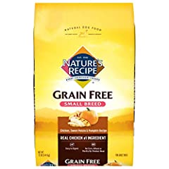 Contains 1 - 12 Pound Bag of Dry Dog Food Real chicken is the #1 ingredient and helps maintain muscle health Small sized kibble for smaller mouths Grain free recipe – contains nutrient dense carbohydrate sources like sweet potato and pumpkin No added...