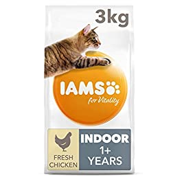 Iams for Vitality Cat Food for Indoor Cats with Fresh Chicken