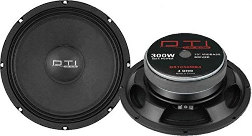 DTI Car Audio DTIDS1050MB4 10-Inch Midbass Driver with 4 Ohm Impedance