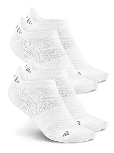 Craft Invisibles Pack de 2 Socken, weiß, FR : XS (Taille Fabricant : 34-36)