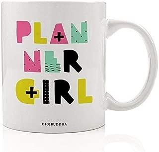 Planner Girl Gift Idea Planning Addict Coffee Mug Plan Organize Agenda Schedule Calendar Booking Pink Mint Green Christmas Birthday Present Mom Sister Coworker 11oz Ceramic Tea Cup Digibuddha DM0294