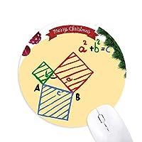 公式関数側辺面積 クリスマスツリーの滑り止めゴム形のマウスパッド