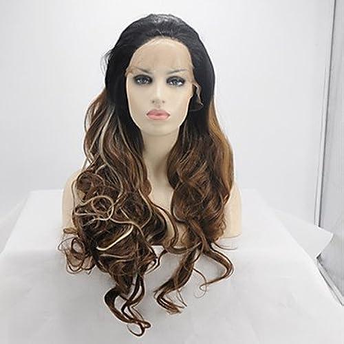 ordenar ahora Peluca de de de encaje sintético para mujer, de Color marrón oscuro y marrón oscuro, para fiesta de Halloween, peluca de carnaval, peluca natural  El nuevo outlet de marcas online.