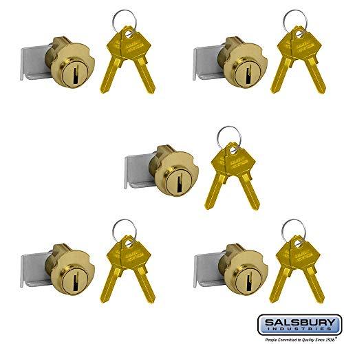 SALSBURY INDUSTRIES 2190-5 Lock for Americana Mailbox Door 2 Keys PER Lock-5 Pack