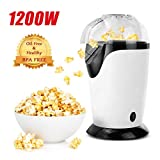 Best Air Popcorn Poppers - Hot Air Popcorn Popper, 1200W Popcorn Maker, Electric Review