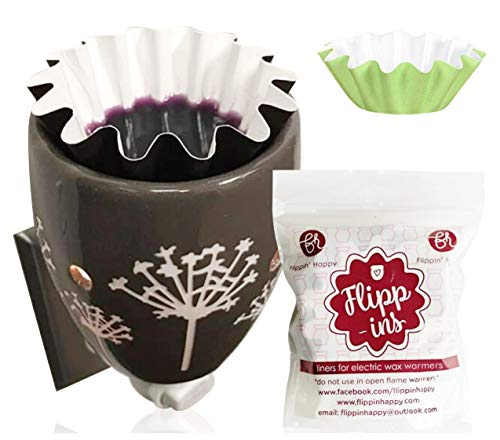 Flippins, Wax Warmer Liners, 10 Green Reusable & Leakproof Liners, Wax Warmer Liner for Scented Wax, Designed for Electric Wax Warmers, Plug in Warmers, Candle Warmer, Wax Melter and Wax Burner