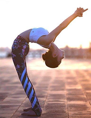 jieGorge Pantalones, Leggings Deportivos de Yoga con Estampado Floral para Mujer, Leggings Deportivos,...