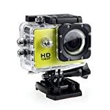 Waterproof Camera HD 1080P Sport Action Camera DVR Cam DV Video Camcorder (Yellow)