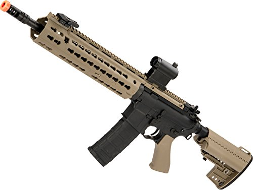 Evike - CYMA Keymod-S M4 Airsoft AEG (Color: Dark Earth/Polymer/Carbine Length)