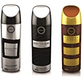 Armaf 3 pc Perfume Body Spray Alcohol Free 6.6 oz Skin Couture/Shades Wood/Edition One For Men