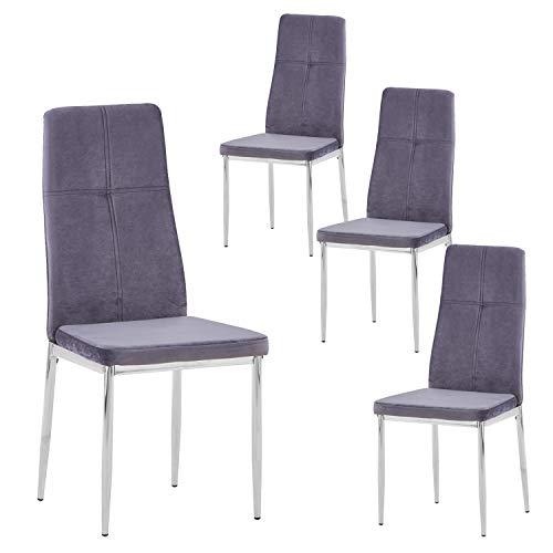 Sillas De Comedor Modernas Patas Cromadas sillas de comedor modernas  Marca GOLDFAN