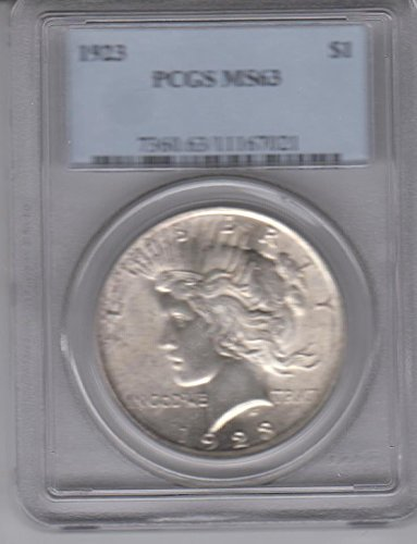 1923 Peace Silver Dollar $1 MS63 PCGS