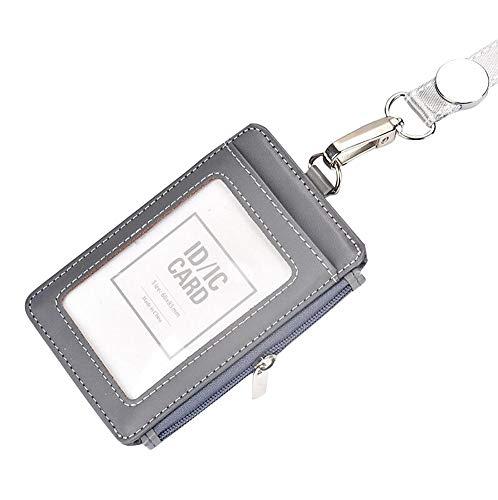 bleu Govo pour badge//Portefeuille–Ultra durable support de carte didentité avec clip en métal et 4cartes SDXC pour 1–4cartes