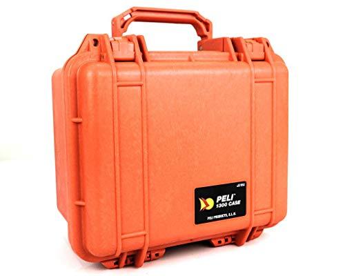 PELI 1300-000-150E - Maleta con Espuma, Color Naranja
