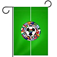ガーデンヤードフラッグ両面 /12x18in/ ポリエステルウェルカムハウス旗バナー,サッカー競技場